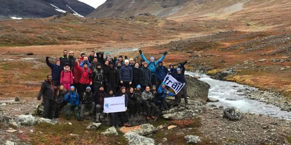 Teambuilding: climbing the highest mountain in Sweden!